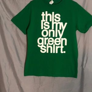This is my green t-shirt logo funny humor tee med